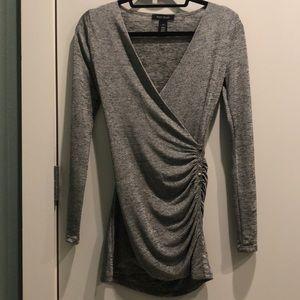 White House black market metallic tunic top